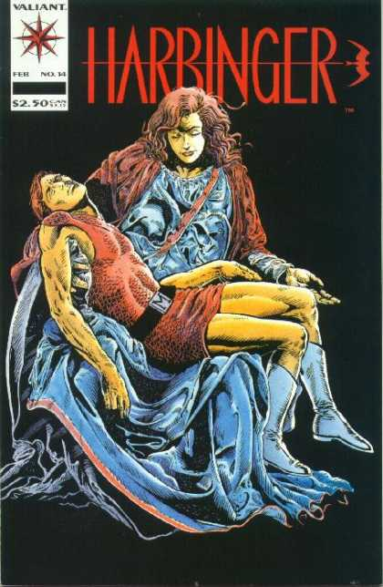 Harbinger 14 - Valliant - No 14 - 250 - Red Long Haired Woman - Man Being Held - David Lapham