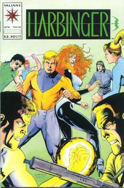 Harbinger 16 - Valiant - April - Simpson - Number 16 - Harbinger - Howard Simpson