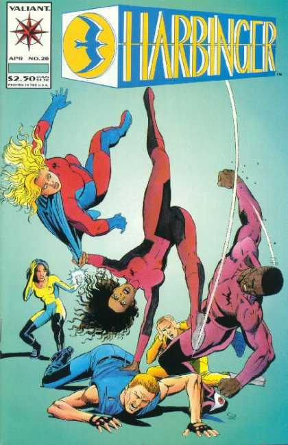 Harbinger 28 - Valiant Comics - Kung Fu Girls - Super Chicks - Bad Guys Get Beat Down - Thrown Around And Knocked Down - Josef Rubinstein, Sean Chen