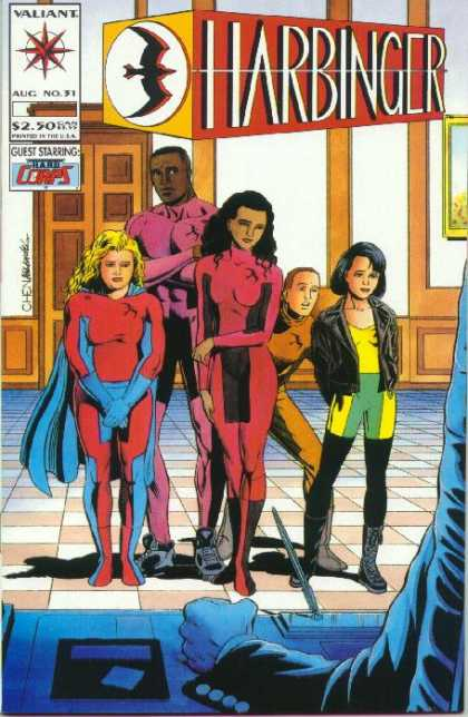 Harbinger 31 - Superheros - Costumes - 3 Girls - 2 Boys - Kids - Sean Chen