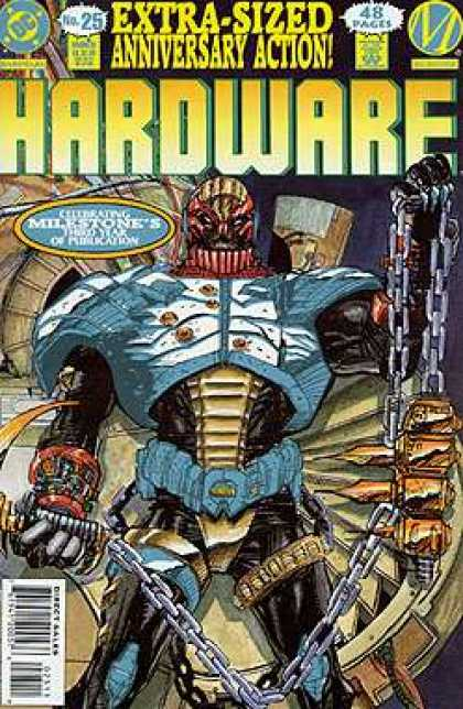 Hardware 25 - Anniversary Action - Chains - Extra-sized - Dc Comics - Robot - Denys Cowan