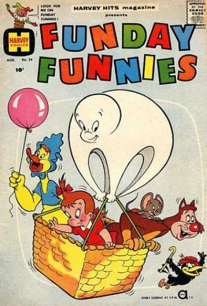 Harvey Hits 35 - Look For He On - Funday Funnies - Ballon - Rat - Magazine