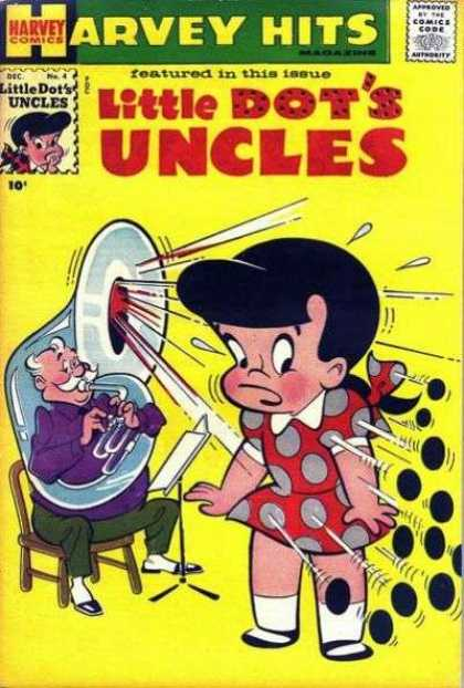 Harvey Hits 4 - Little Dots Uncles - Tuba - Polka Dot - Featured In This Issue - Yellow