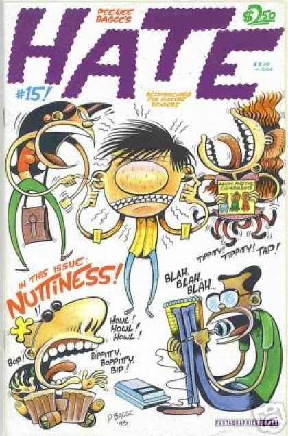 Hate 15 - Nuttiness - Blah Blah - Peewee - Loud - Bongoes - Peter Bagge