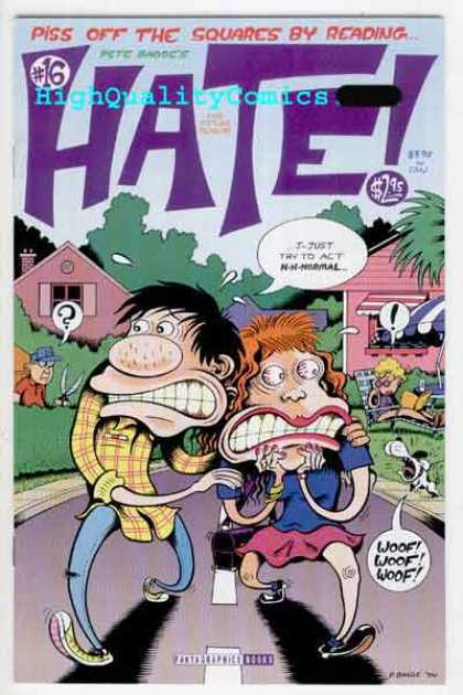 Hate 16 - Piss Off - Squares - Plaid - Dog - Road - Peter Bagge