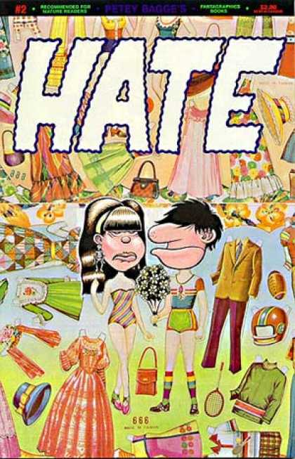 Hate 2 - Clothes - Purse - Football - Tennis Racket - Flowers - Peter Bagge