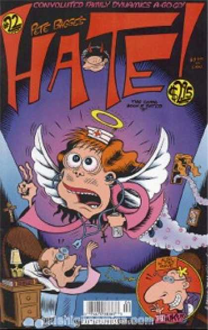 Hate 22 - One Old Man - Star - Ring - Bed - Table - Peter Bagge