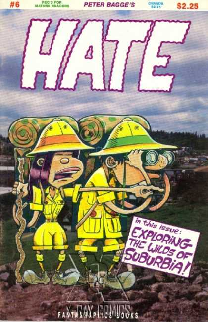 Hate 6 - Binoculars - Yellow Hat - Camping Gear - Pointing - Exploration - Peter Bagge