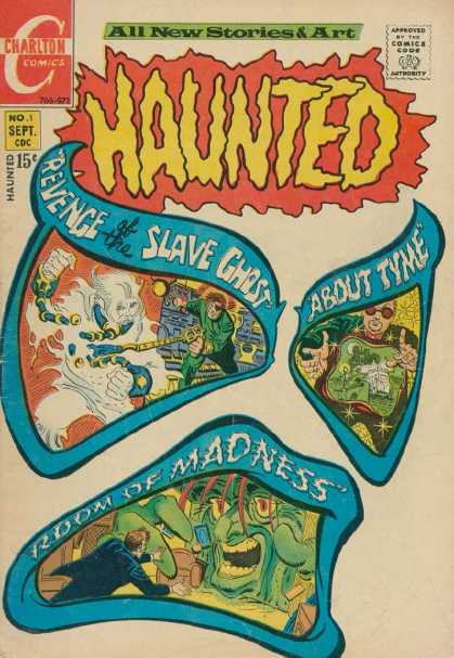 Haunted 1 - No 1 Sept - Revenge Of The Slave Ghost - About Tyme - Charlton Comics - Room Of Madness