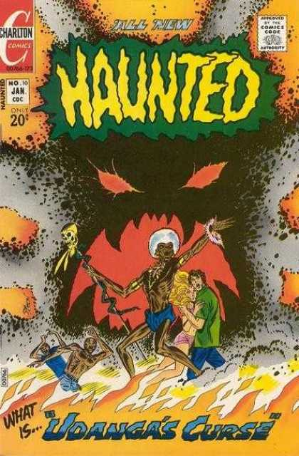 Haunted 10 - Charlton Comics - Comics Code - All New - Sceleton - Flame