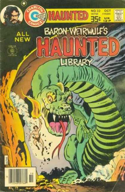 Haunted 32 - Pre-historic - Classic Comics - Adventure - Dinosaurs - Charlton Comics