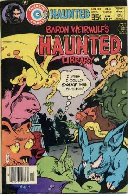 Haunted 33 - Charlton Comics - Comics Code - Baron Weirwulf - Monsters - Man