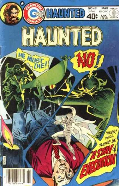 Haunted 48 - Charlton Comics - Haunted - Stay Of Execution - 48 - Big Sword
