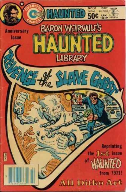 Haunted 51 - Baron Weirwulf - Revenge Of The Slave Ghost - Anniversary Issue - All Ditko Art - Battle