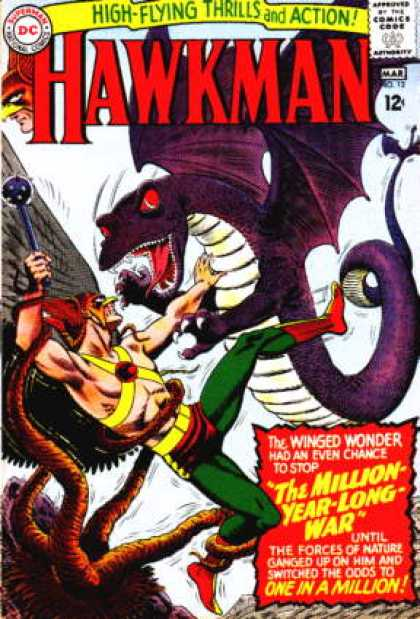 Hawkman 12 - Dragon - Tentacles - Hawkman - Red Eyes - Green Pants - Murphy Anderson, Steve Lieber