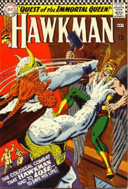 Hawkman 13 - Quest Of The Immortal Queen - Colossal Combat - Fight - Dc Comics - Challenge - Murphy Anderson, Steve Lieber