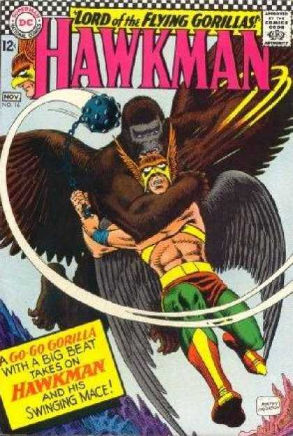 Hawkman 16 - Man - Thung - Monster - Chain - Superhero - Murphy Anderson