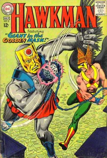 Hawkman 8 - Golden Mask - Giant - July - Fight In The Air - Action - Murphy Anderson, Steve Lieber