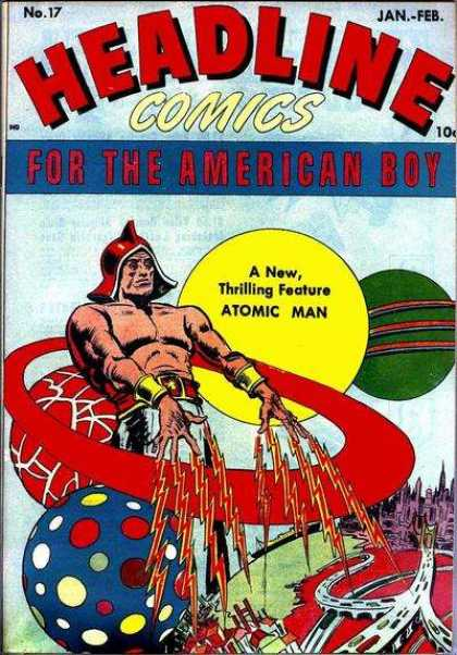 Headline Comics 17 - American Boy - Green Moon - Red Lightning - Highway - Atomic Man