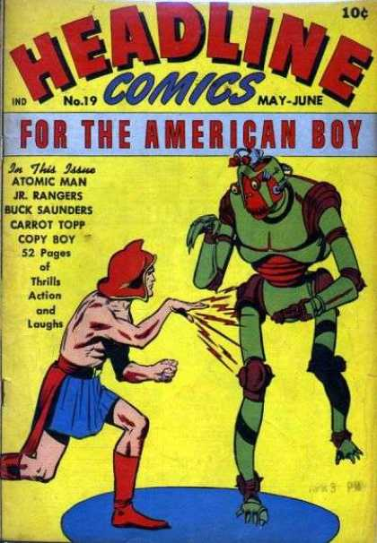 Headline Comics 19 - No19 - May-june - Robot - For The American Boy - Atomic Man