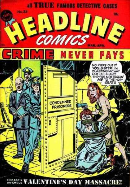 Headline Comics 23 - Gun - Priest - Police Officer - Cell - Crime