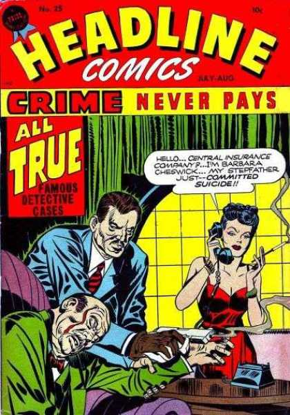 Headline Comics 25 - Famous - Crime - Detective - Cases - All True