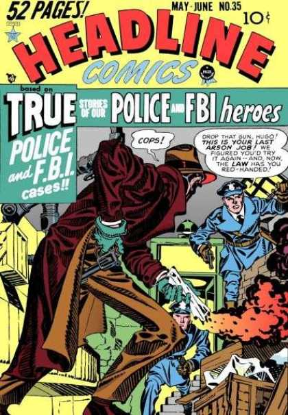 Headline Comics 35 - Fbi - Pistol - Raid - 50 Pages - Police