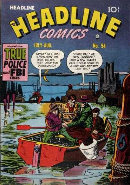 Headline Comics 54 - Boat - Water - Chains - Cement - Oars