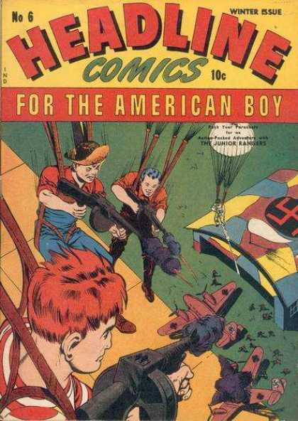 Headline Comics 6 - No 6 - Winter Issue - Parachute - Nazi - Guns