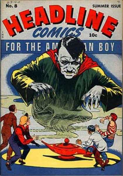 Headline Comics 8 - 10 Cents - Summer Issue - For The American Boy - Genie Lamp - Kids
