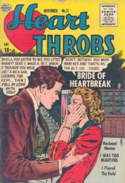Heart Throbs 37 - Heart - Dialogue - Bride - Angry - Husband