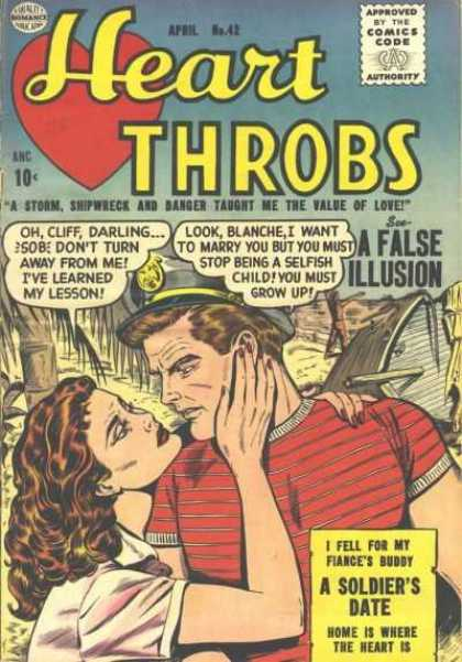 Heart Throbs 42 - Kiss - Sailor - Stranded - Shipwrecked - Palm Trees