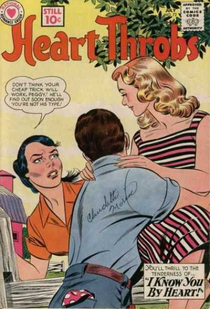 Heart Throbs 72 - Jealousy - Blonde - Fence - Speech Bubble - Old Girlfriend