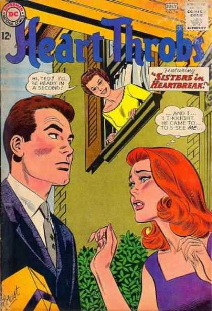 Heart Throbs 84 - Brunette - Red Head - Man In Suit - Candies - Front Door Scene