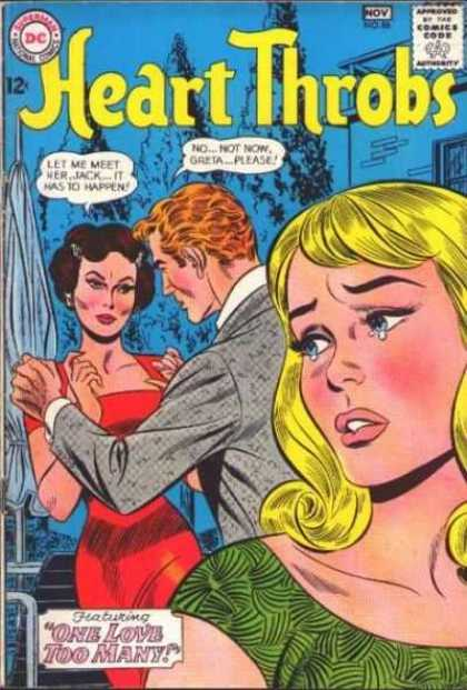 Heart Throbs 86 - Couple - Criing Woman - Comics Code - Dc - One Love Too Many