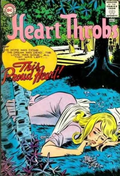 Heart Throbs 90 - This Proud Heart - July - Approved By The Comics Code - The Hope Was Done - The Dream Was Dead