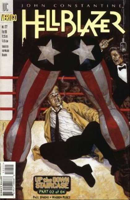 Hellblazer 122 - Wrestling - Ring - John Constantine - Up The Down Staircase - Man With American Flag Pants