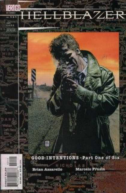Hellblazer 151 - Cegerate - Smoke - Good Intentions-part One Of Six - Old Man - Green Coat - Tim Bradstreet