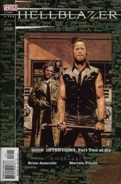 Hellblazer 152 - Good Intentions - Pipe - Trench Coat - Brian Azzarello - Marcelo Frusin - Tim Bradstreet