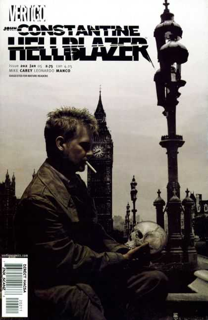 Hellblazer 202 - Skull - Vertigo - Man - Tower - Direct Hacsa - Tim Bradstreet