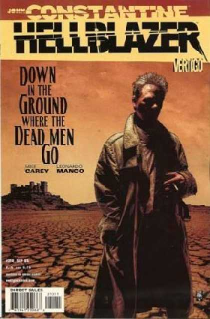 Hellblazer 210 - Down In The Ground Where The Dead Men Go - Castle - Stone - Desert - Scorched Earth - Tim Bradstreet