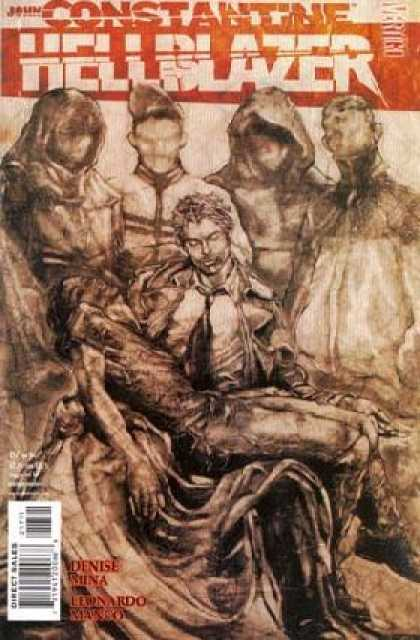 Hellblazer 217 - Men - Faceless - Suit - Robes - Dying Man