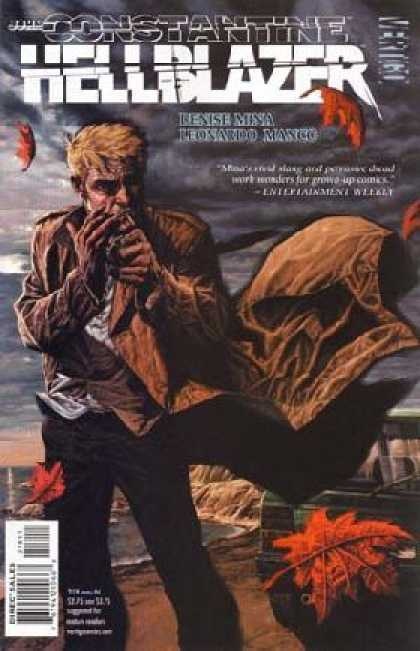 Hellblazer 218 - Autumn Leaves - Storm - Ocean - Car - Skull