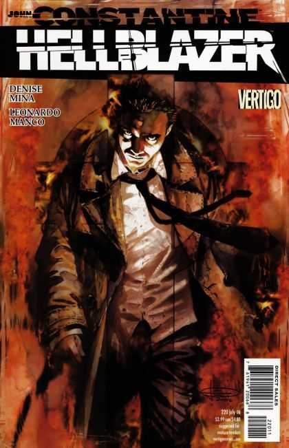 Hellblazer 220 - Man - Walk - Fire - Tie - Clothe - Leonardo Manco