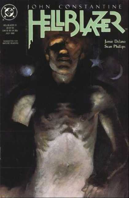 Hellblazer 31 - Weird Naked Man - Bad Teeth - Crescent Moon - Star - Planet - Kent Williams