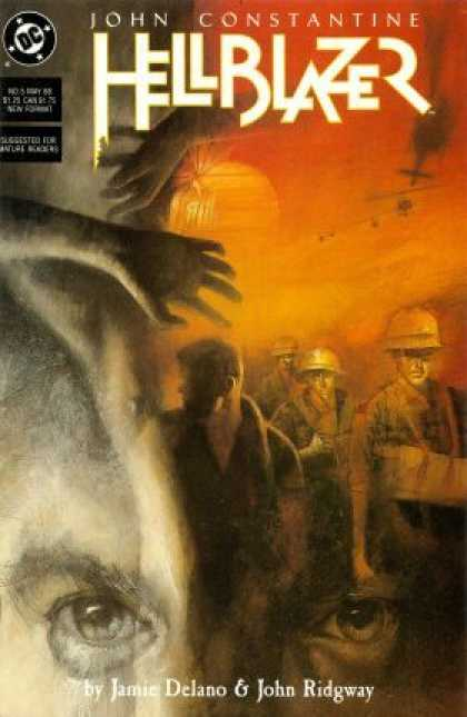 Hellblazer 5 - Hands - Fire - Smoke - Yellow - Plane - Dave McKean