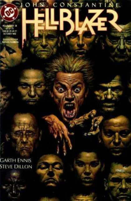 Hellblazer 58 - Eyes - Teeth - Fingers - Faces - Reciding Hairs