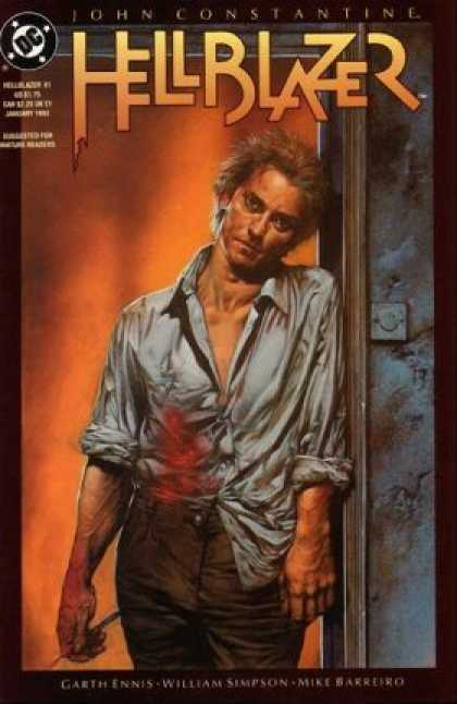 Hellblazer 61 - John Constantine - Dc - Orange - Blood - Shirt
