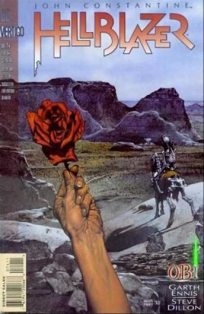 Hellblazer 74 - Rose - Skeleton - John Constantine - Horse - Mountains