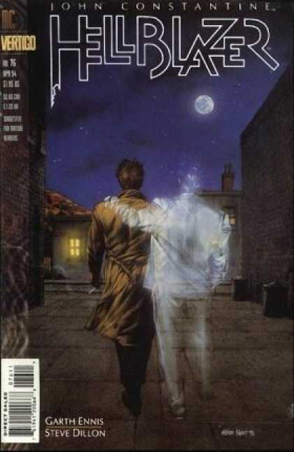 Hellblazer 76 - John Constantine - Dc Vertigo - Garth Ennis - Steve Dillon - Walking With Ghost
